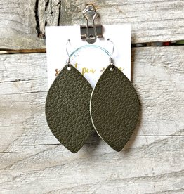 SWEET PEA + ME DESIGNS LEATHER EARRINGS - E