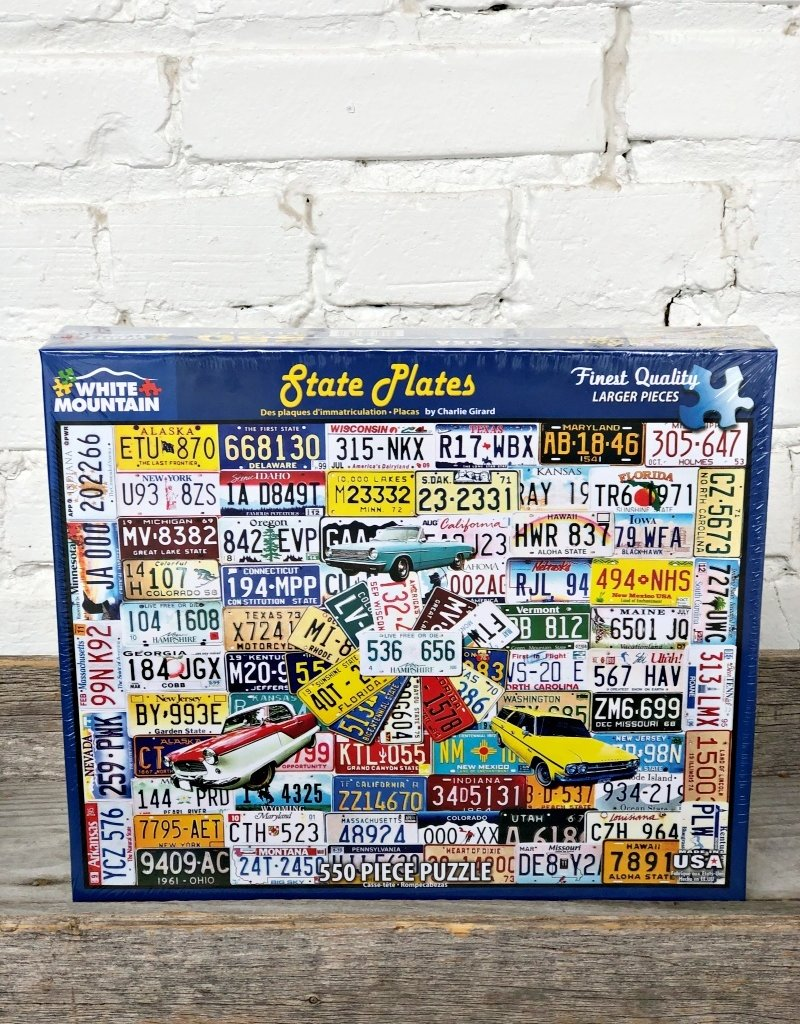 WHITE MOUNTAIN PUZZLE 50 STATES LICENSE PLATE PUZZLE