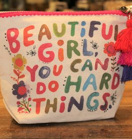 NATURAL LIFE BEAUTIFUL GIRL CANVAS POUCH