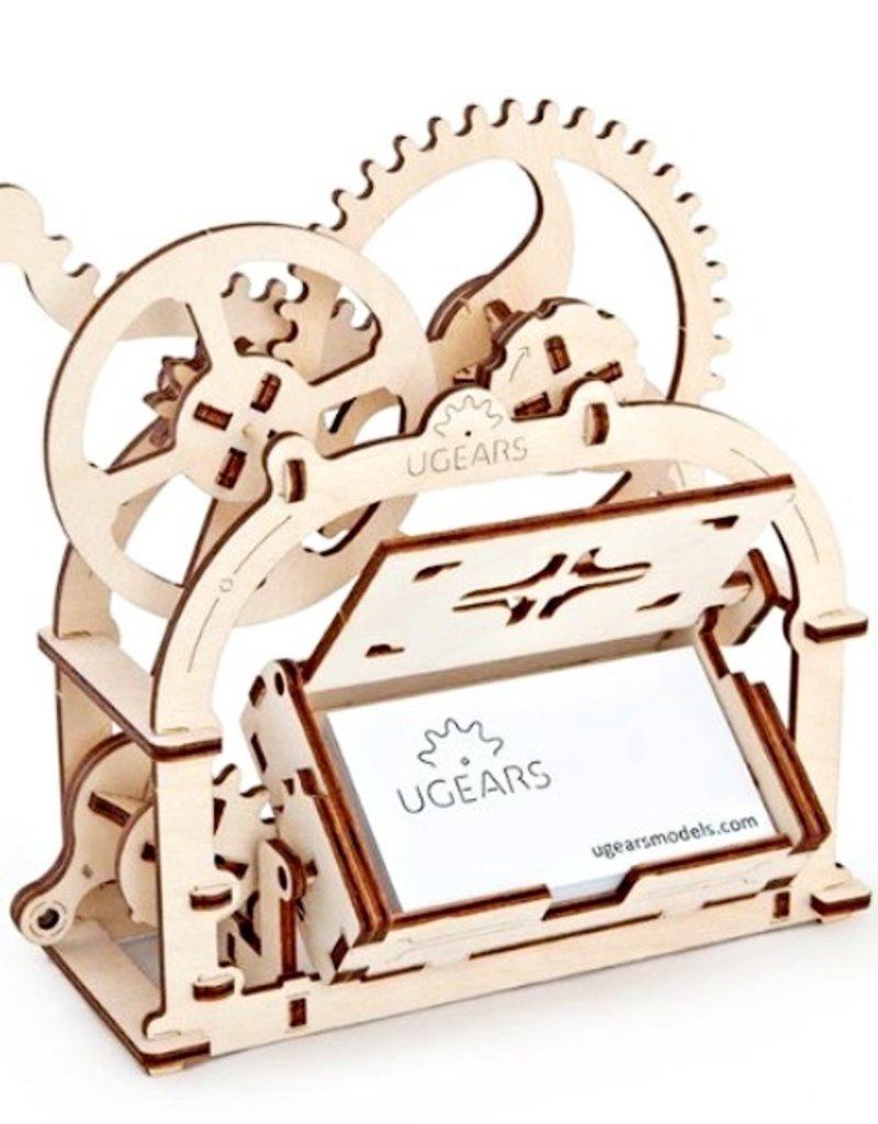 KITES & DESIGN UGEAR MECHANICAL BUSINESS CARD BOX