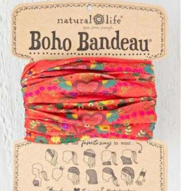 NATURAL LIFE BOHO BANDEAU RED HEARTS