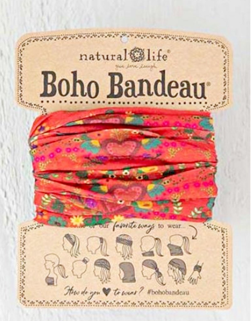NATURAL LIFE BOHO BANDEAU RED HEARTS