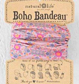 NATURAL LIFE BOHO BANDEAU PINK FLOWER