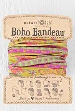 NATURAL LIFE BOHO BANDEAU RED & PINK FLOWER