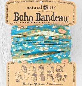 NATURAL LIFE BOHO BANDEAU BLUE FLOWER STRIPE