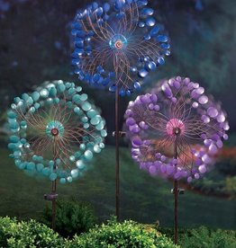 GRASSLANDS ROAD SOLAR FLOWER GARDEN SPINNER