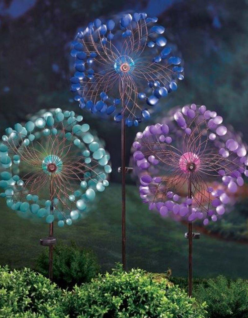 GRASSLANDS ROAD SOLAR FLOWER GARDEN SPINNER