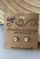 COASTAL SANDS WOODEN EARRINGS XOXO STUDS