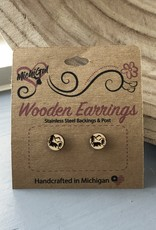COASTAL SANDS WOODEN EARRINGS BEAR STUDS