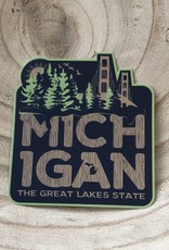 COASTAL SANDS STICKER GREAT LAKES STATE