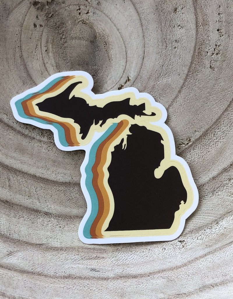 COASTAL SANDS STICKER 70s STATE OF MICHIGAN