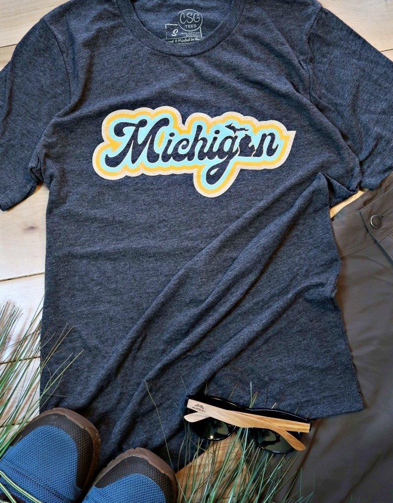 COASTAL SANDS UNISEX 70's MICHIGAN TEE