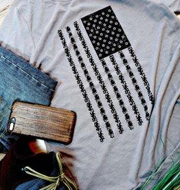 COASTAL SANDS UNISEX AMERICAN FLAG TEE