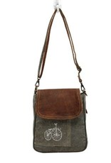 MYRA BAGS BY-CYCLE PRINT SHOULDER BAG