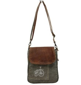 MYRA BAGS BY-CYCLE PRINT SHOULDER BAG