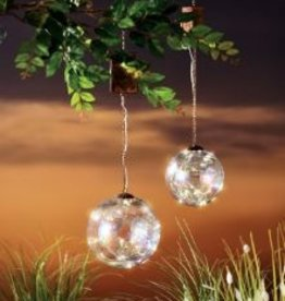GRASSLANDS ROAD LIGHT UP GLASS HANGING BUBBLE