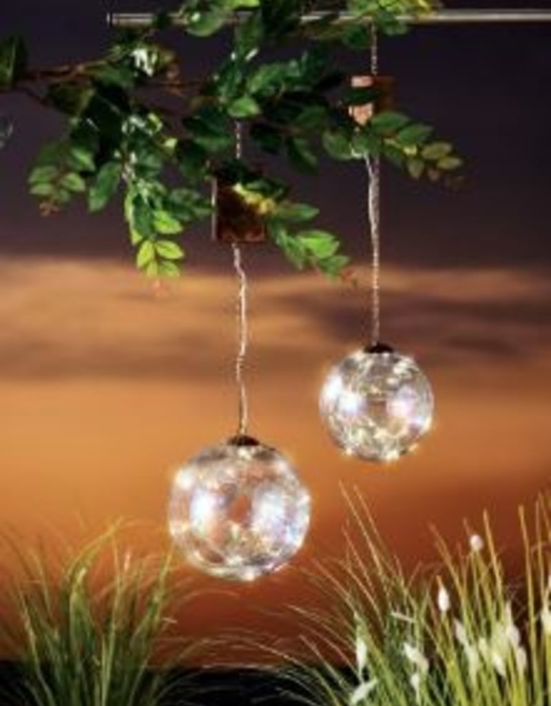 GRASSLANDS ROAD LIGHT UP GLASS HANGING BUBBLE