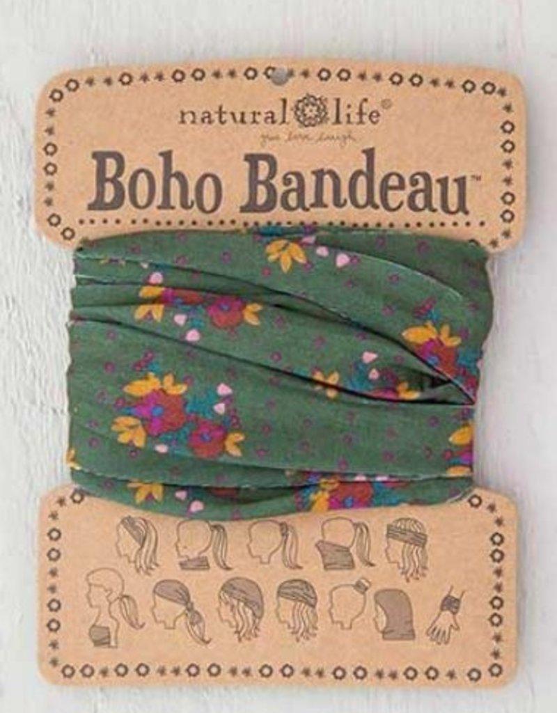 NATURAL LIFE BOHO BANDEAU OLIVE MAGENTA