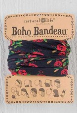 NATURAL LIFE BOHO BANDEAU BLACK BLOOMS