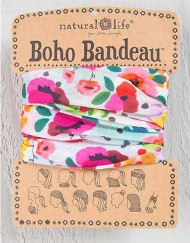 NATURAL LIFE BOHO BANDEAU PINK FLORAL POLKA