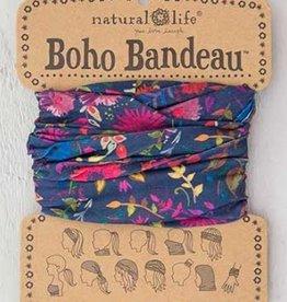 NATURAL LIFE BOHO BANDEAU NAVY WILDFLOWERS