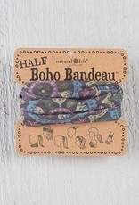 NATURAL LIFE HALF BOHO BANDEAU GREY, PURPLE & BLUE