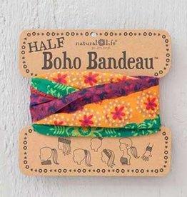 NATURAL LIFE HALF BOHO BANDEAU RED, GOLD & GREEN