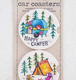 NATURAL LIFE CAR COASTER HAPPY CAMPER