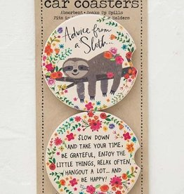 NATURAL LIFE CAR COASTER ADVICE FROM A SLOTH