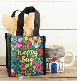 NATURAL LIFE SMALL TEAL HAPPY BAG