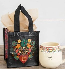 NATURAL LIFE SMALL HAPPY BAG BLACK HEARTS