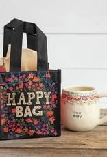 NATURAL LIFE SMALL BLACK & CREAM HAPPY BAG