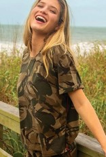 NATURAL LIFE BOYFRIEND CROP TOP CAMO