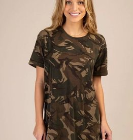 NATURAL LIFE CAMO T-SHIRT DRESS