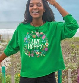 NATURAL LIFE LIVE HAPPY CROPPED SWEATSHIRT