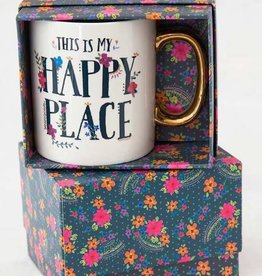 NATURAL LIFE HAPPY PLACE BOXED MUG