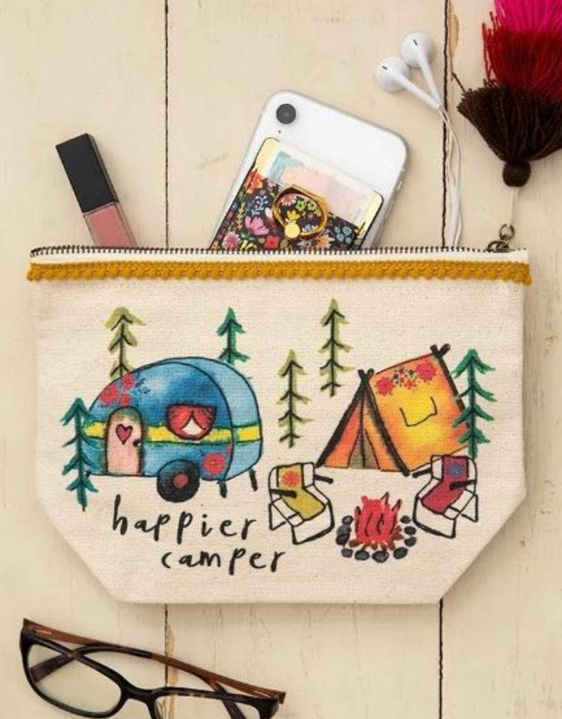 NATURAL LIFE HAPPY CAMPER CANVAS POUCH