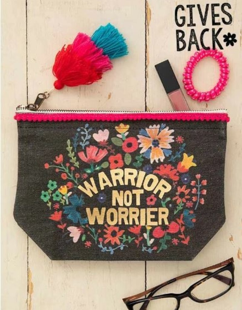 NATURAL LIFE WARRIOR NOT WORRIER CANVAS POUCH
