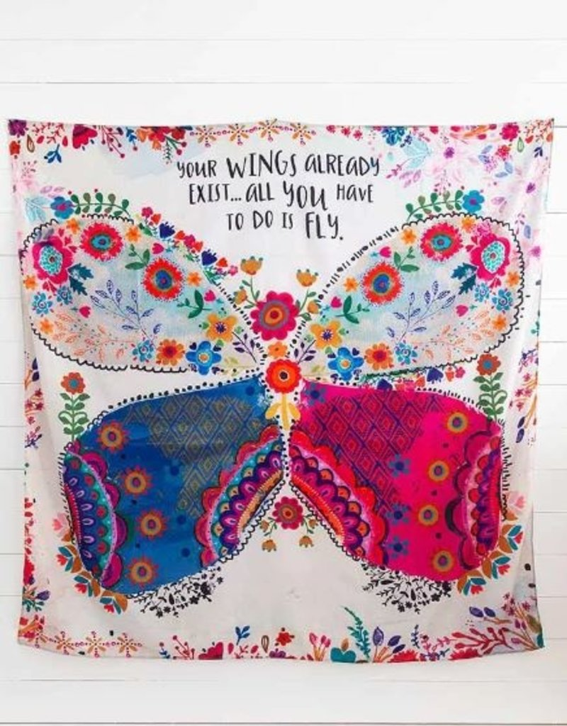 NATURAL LIFE YOUR WINGS EXIST TAPESTRY