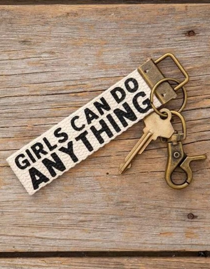 NATURAL LIFE GIRLS CAN DO ANYTHING KEY FOB