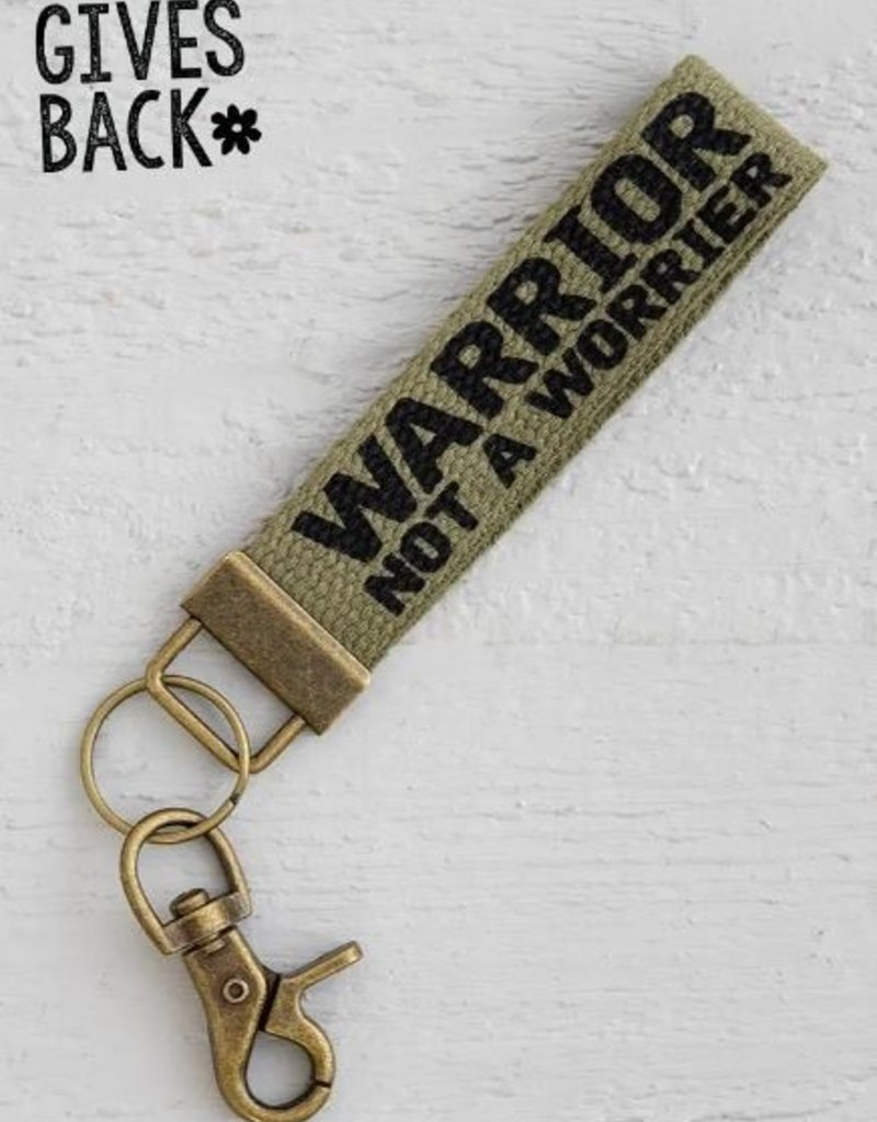 NATURAL LIFE WARRIOR NOT WORRIER KEY FOB