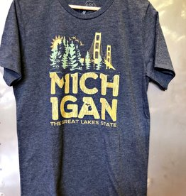 COASTAL SANDS UNISEX MICHIGAN BRIDGE TEE