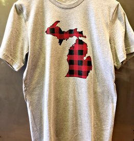 COASTAL SANDS BUFFALO PLAID MICHIGAN TEE