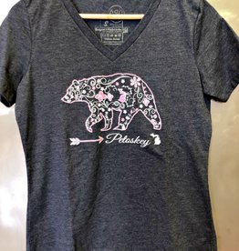 COASTAL SANDS WOMEN'S MICHIGAN SWIRL BEAR TEE