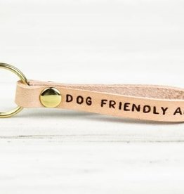 FRESH WATER DESIGN CO KEY CHAIN DOG FRIENDLY AF
