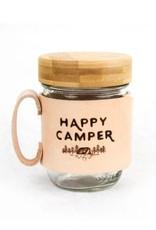 FRESH WATER DESIGN CO MASON JAR MUG HAPPY CAMPER