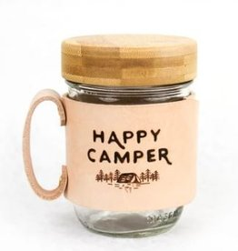 FRESH WATER DESIGN CO MASON JAR MUG HAPPY CAMPER