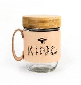 FRESH WATER DESIGN CO MASON JAR MUG BEE KIND