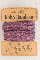 NATURAL LIFE BOHO BANDEAU RED/PURPLE FLOWER