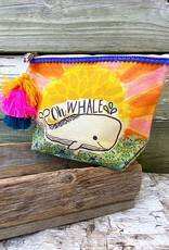 OH WHALE CANVAS POUCH
